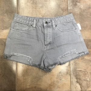 NWT Free People Grey Distressed High Rise 29